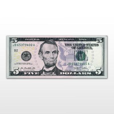 USA - 5 DOLLARI LINCOLN