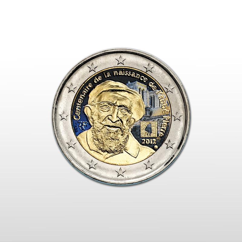 5aa03f8fb1 Francia - 2 Euro Colorato 2012: moneta dedicata all'Abbè Pierre