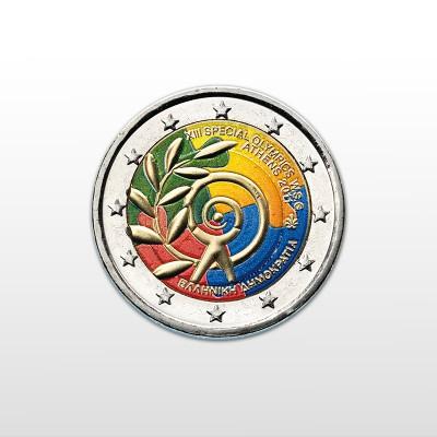 GRECIA - 2 EURO COLORATO,...