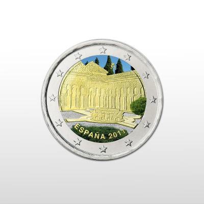 SPAGNA - 2 EURO COLORATO...