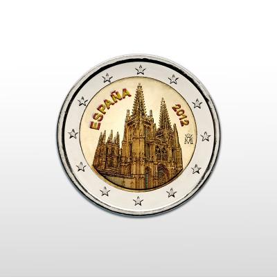 SPAGNA - 2 EURO COLORATO,...