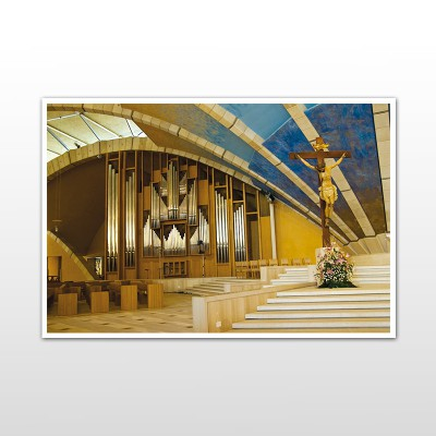 Cartolina (Interno del Convento Santuario di San Pio)