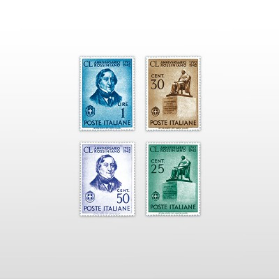 1942 - Gioachino RossiniPO 588/591 - 4 valori