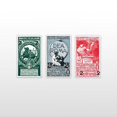 1913 - Unità soprastampatePO 156/158 - 3 valori