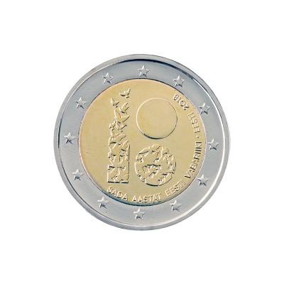 ESTONIA - 2 EURO, 100°...