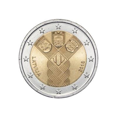 LETTONIA - 2 EURO, 100°...