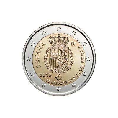 SPAGNA - 2 EURO, 50º...