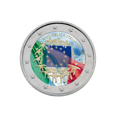 ITALIA - 2 EURO COLORATO,...
