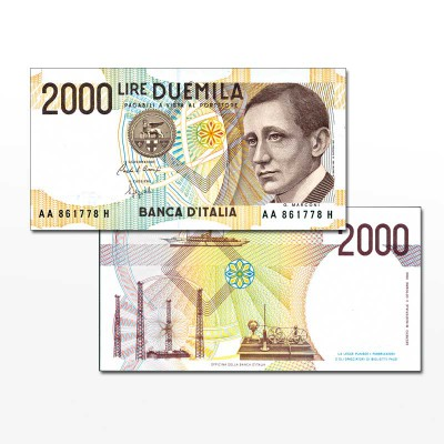 ITALIA - BANCONOTA 2.000...
