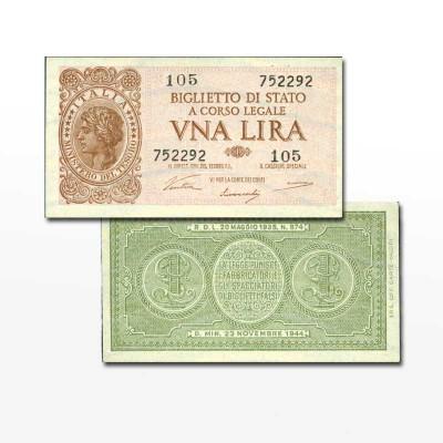 ITALIA - BANCONOTA 1 LIRA...