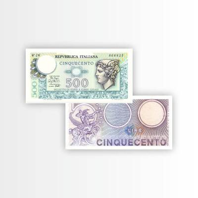 ITALIA - BANCONOTA 500 LIRE...