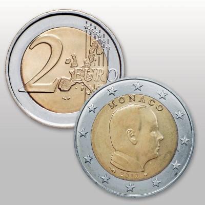 MONACO - 2 EURO ANNATE...