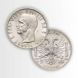 ALBANIA - IL 5 LEK DI VITTORIO EMANUELE III
