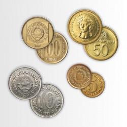 4 MONETE DELLA JUGOSLAVIA
