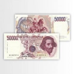 ITALIA - BANCONOTA 50.000...