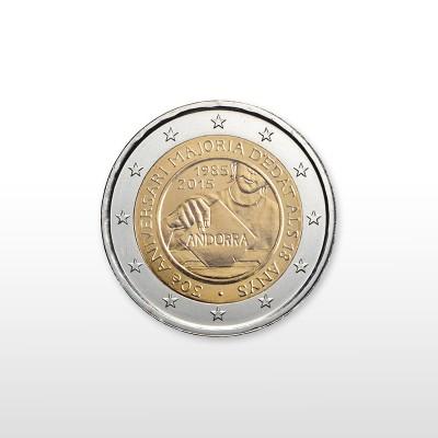 ANDORRA - 2 EURO, DIRITTO...